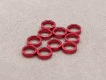 5mm x 2mm Aluminium Bore Washer (Red 10 Pcs)