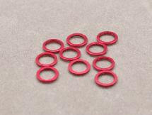 5mm x 0.75mm Aluminium Bore Washer (Red 10 Pcs)