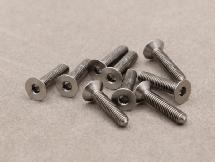 3 x 14mm Machine Type Titanium Countersunk Hex Screw (10 Pcs)