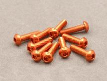 3 x 12mm Machine Type 7075-T6 Button Head Hex Screw (Orange 10 Pcs)