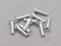 3 x 12mm Machine Type 7075-T6 Countersunk Hex Screw (Silver 10 Pcs)
