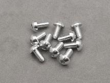 3 x 6mm Machine Type 7075-T6 Button Head Hex Screw (Silver 10 Pcs)