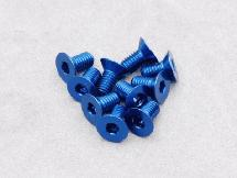 3 x 6mm Machine Type 7075-T6 Countersunk Hex Screw (Dark Blue 10 Pcs)