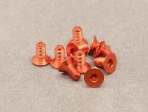 3 x 6mm Machine Type 7075-T6 Countersunk Hex Screw (Orange 10 Pcs)