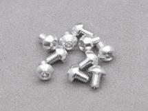3 x 4mm Machine Type 7075-T6 Button Head Hex Screw (Silver 10 Pcs)