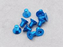 3 x 5mm Machine Type 7075-T6 Countersunk Hex Screw (Blue10 Pcs)