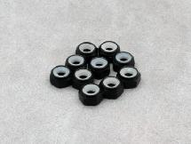 Thinness Alu. 3mm Lock Nut (Black 10Pcs)