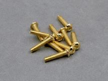 3x16mm Gold Plated Buttom Head Screw (8Pcs)