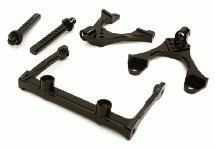 CNC Machined Front Chassis Brace, Shock Tower & Body Post Kit for Axial SCX-10