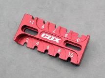 Alu. 6061 Suspension Rebound Gauge Multi tool (Red)