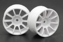 RIDE White 47mm 10 Spoke Inch Up Wheels (2) for 1/10 Tamiya M-Chassis