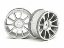 RIDE Matt Silver 47mm 10 Spoke Inch Up Wheels (2) for 1/10 Tamiya M-Chassis