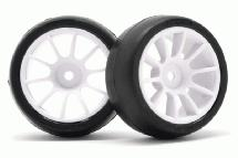 RIDE M-Chassis 60 Low Profile Mc38 Tires(2) w/ 10 Spoke Inch-up Wheels & Inserts
