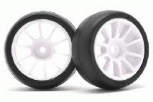 RIDE M-Chassis 60 Low Profile Sc36 Tires(2) w/ 10 Spoke Inch-up Wheels & Inserts