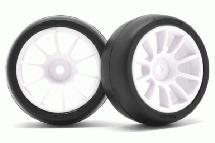 RIDE M-Chassis 60 Low Profile Mc34 Tires(2) w/ 10 Spoke Inch-up Wheels & Inserts