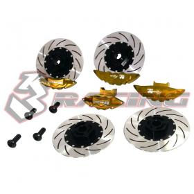 Caliper & Brake Disc Set For D4(Golden)