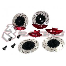Caliper & Brake Disc Set For D4(Red)