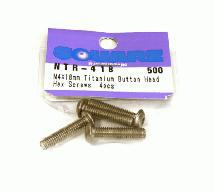 Square R/C M4 x 18mm Titanium Button Head Hex Screws (6 pcs.)