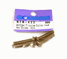 Square R/C M4 x 22mm Titanium Button Head Hex Screws (4 pcs.)