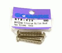 Square R/C M4 x 25mm Titanium Button Head Hex Screws (4 pcs.)