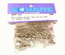 Square R/C Stainless Steel Screw Set (for Yokomo YD-2)