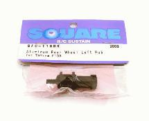Square R/C Aluminum Rear Wheel Hub (for Tamiya F-103) Black