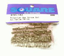 Square R/C Titanium Hex Screw Set (Tamiya TRF-103)