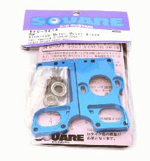 Square R/C Aluminum Brushless Motor Mount (for Tamiya F-103, F-104X1) Blue