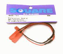 Square R/C Extension Cable (BEC Connectors) for LED Lights (150mm)