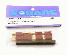 Square R/C T-Type 2P Connectors (4x Female)