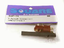 Square R/C T-Type 2P Connectors (1x Male/1x Female)