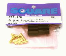 Square R/C European Connectors - 3.5mm (Male) for Brushless Motors, with Housing