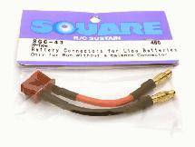Square R/C Battery Connectors for LiPo Batteries (2P-type)