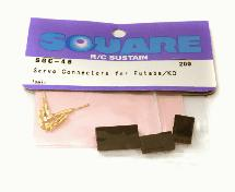 Square R/C Servo Connectors for Futaba/KO (1 pair)