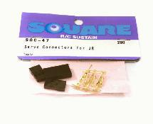 Square R/C Servo Connectors for Sanwa and JR (1 pair)