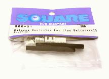 Square R/C Balance Connector for LiPo Batteries, 2S (2x JST-XH)