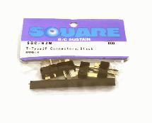 Square R/C T-Type 2P Connectors, Black (4x Male)