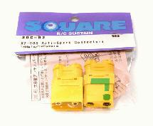 Square R/C XT-90S Anti-Spark Connectors (1x Male/1x Female)