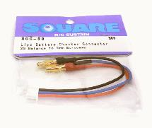Square R/C Battery Checker Connector (2S Balance to 4mm European)