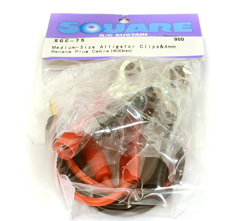 e22483eb Square R/C Medium-Sized Alligator Clips and 4mm Banana Plug Cable (400mm)  for R/C or RC - Team Integy