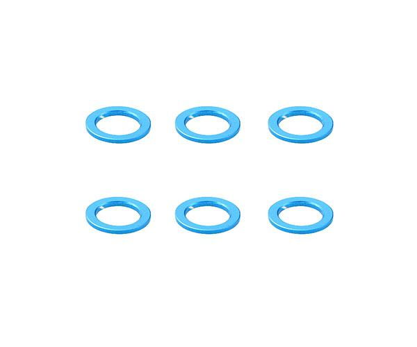 Square R/C Aluminum Collars, 6x4x0.5mm (Light Blue) 6 pcs.