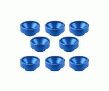 Square R/C M3 Aluminum Washers, Countersunk - for Servos (Blue) 8 pcs.