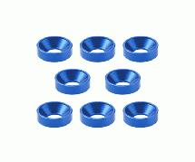 Square R/C M3 Aluminum Countersunk Washers, 7mm OD (Blue) 8 pcs.