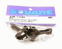 Square R/C Aluminum Knuckle GF-01, City turbo Black
