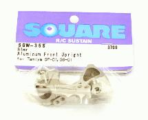 Square R/C Aluminum Knuckles (for Tamiya GF-01 and City Turbo) Silver