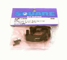Square R/C Aluminum Front Hub Carrier (for Tamiya GF-01) Black