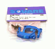 Square R/C Aluminum Front Hub Carrier (for Tamiya WR02G) Blue