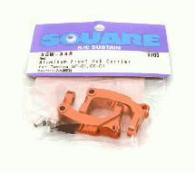 Square R/C Aluminum Front Hub Carrier (for Tamiya GF-01) Red