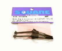 Square R/C Wide-Angle Universal Drive Shaft Set, 35mm Axle for Tamiya TT-01R
