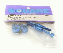 Square R/C Rear Drive Shaft w/ Hexagonal Hub (8 mm width)(Blue) Tamiya T3-01